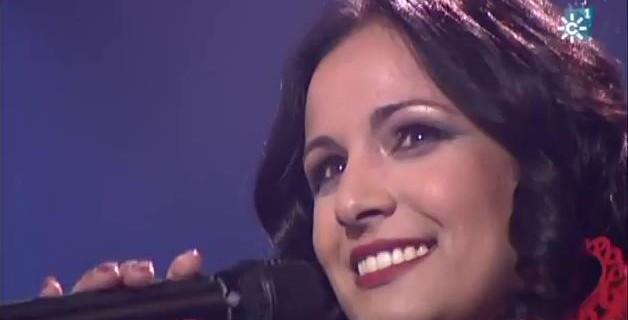 Cintia Merino durante una gala en la Quinta Edición de Se Llama Copla