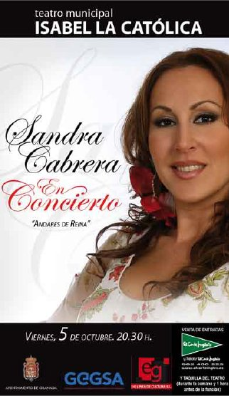 Concierto de Sandra Cabrera en Granada