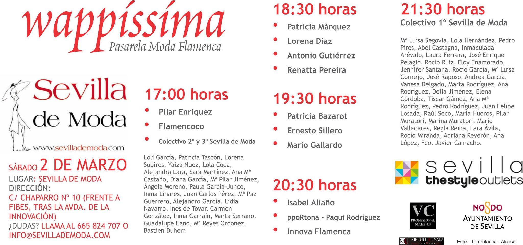 Pasarela Wappíssima – Sevilla de Moda hoy en Sevilla