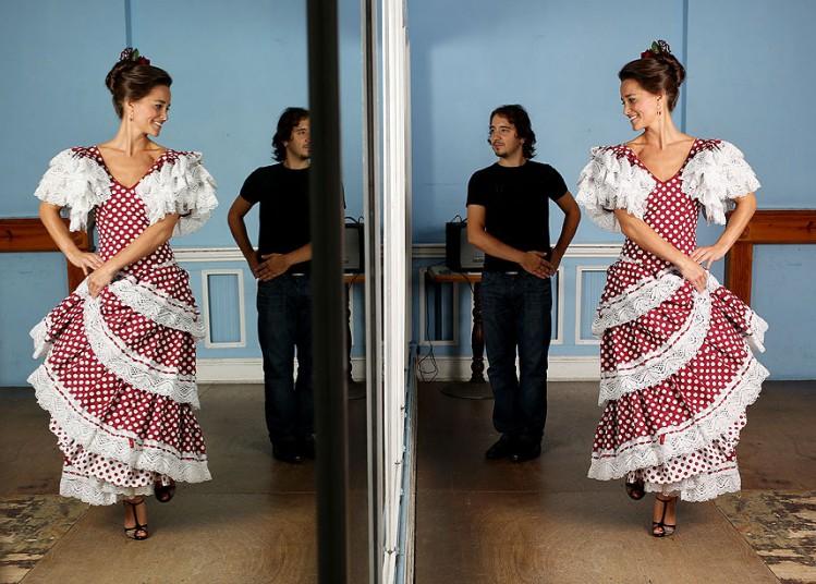 Pippa Middleton se (mal)viste de flamenca