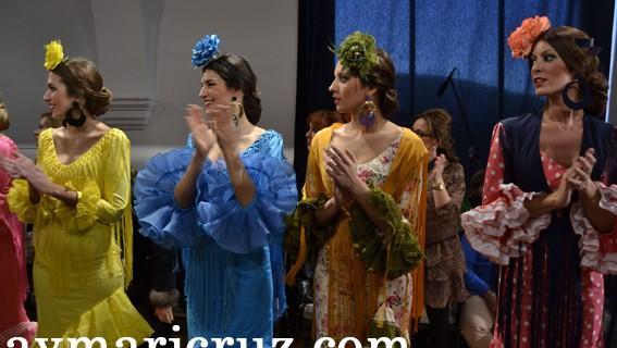 Desfile de Rocío Martín en la pasada edición de la Pasarela Flamenca de Jerez