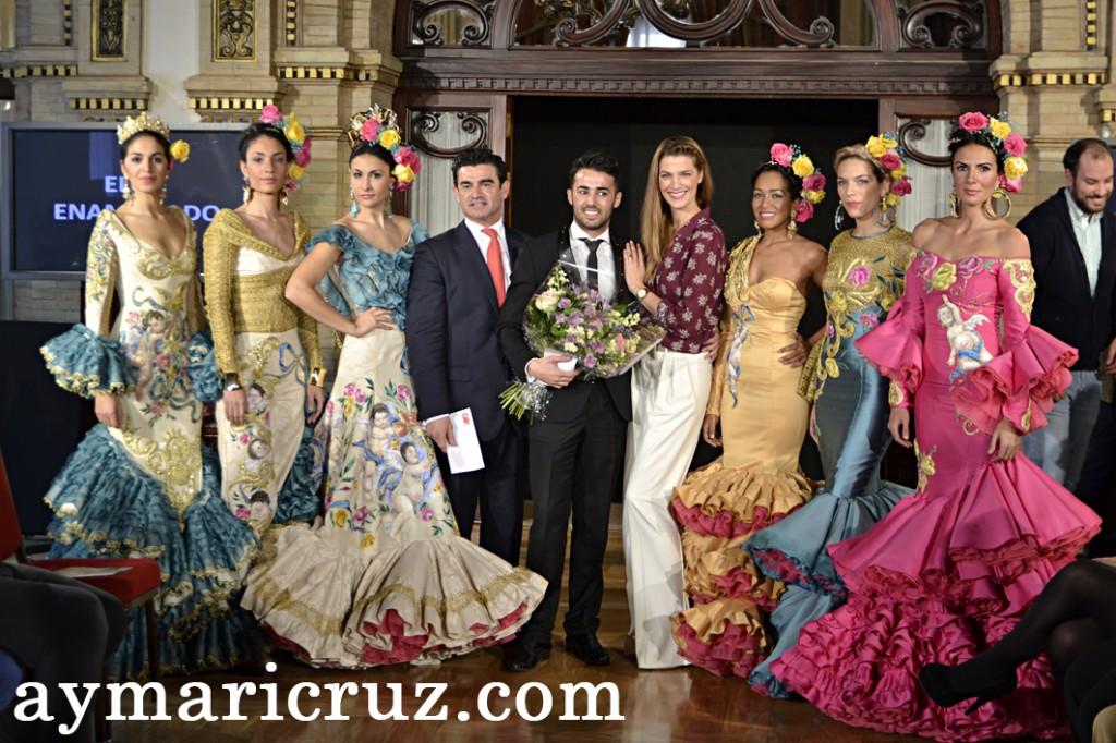 Eloy Enamorado con Laura Sánchez tras ganar el primer concurso de nóveles de We Love Flamenco