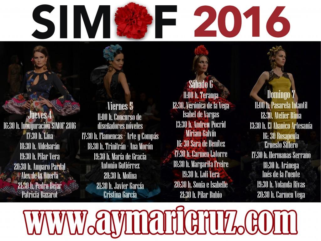 SIMOF 2016 timing pasarela desfiles