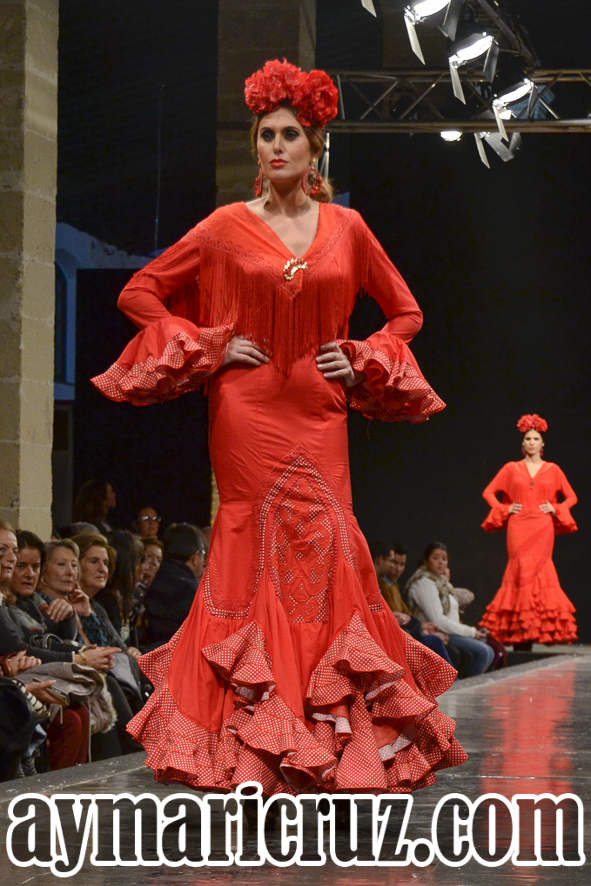 Faly de la Feria al Rocío Pasarela Flamenca de Jerez 2016 34