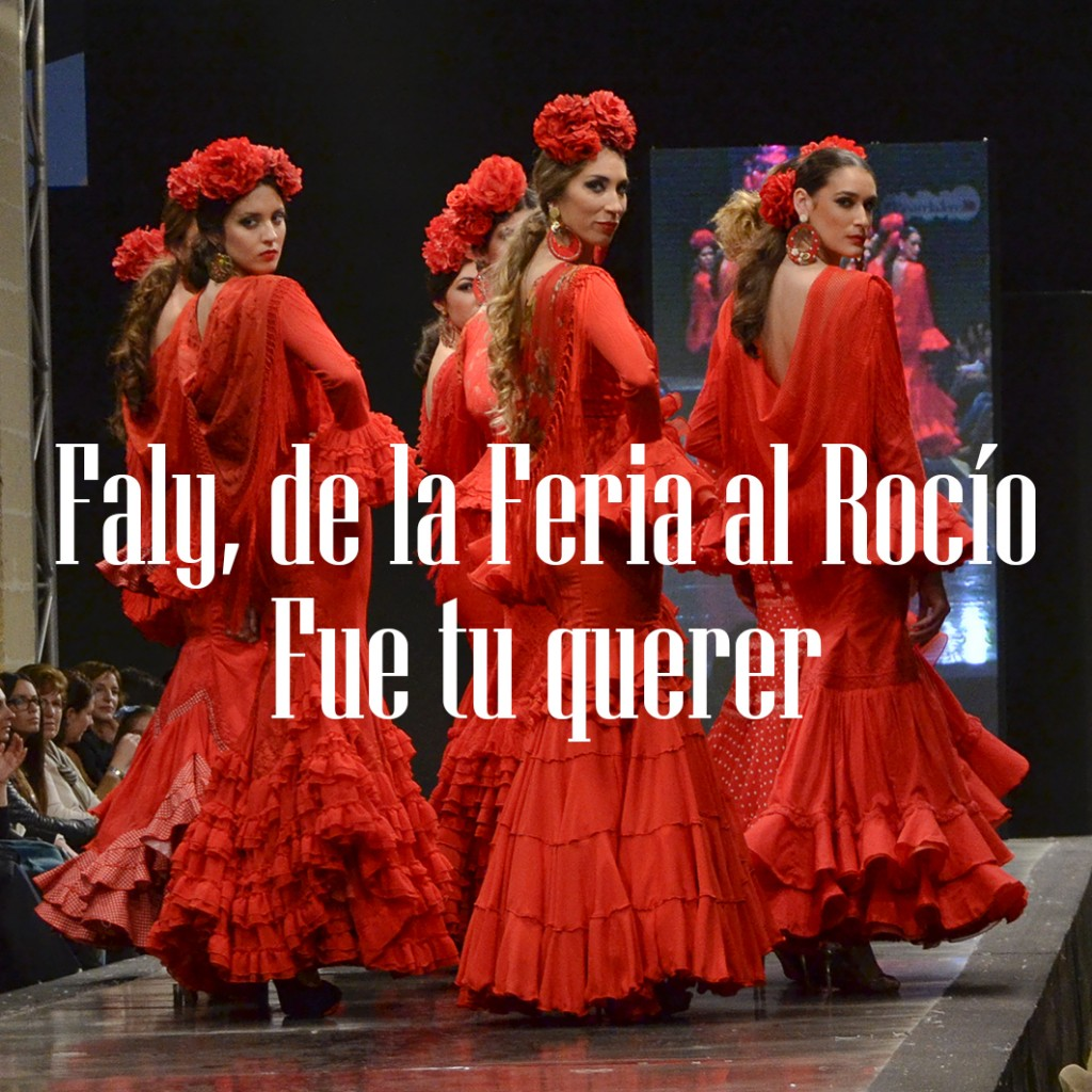 Faly de la Feria al Rocío Pasarela Flamenca de Jerez 2016 43