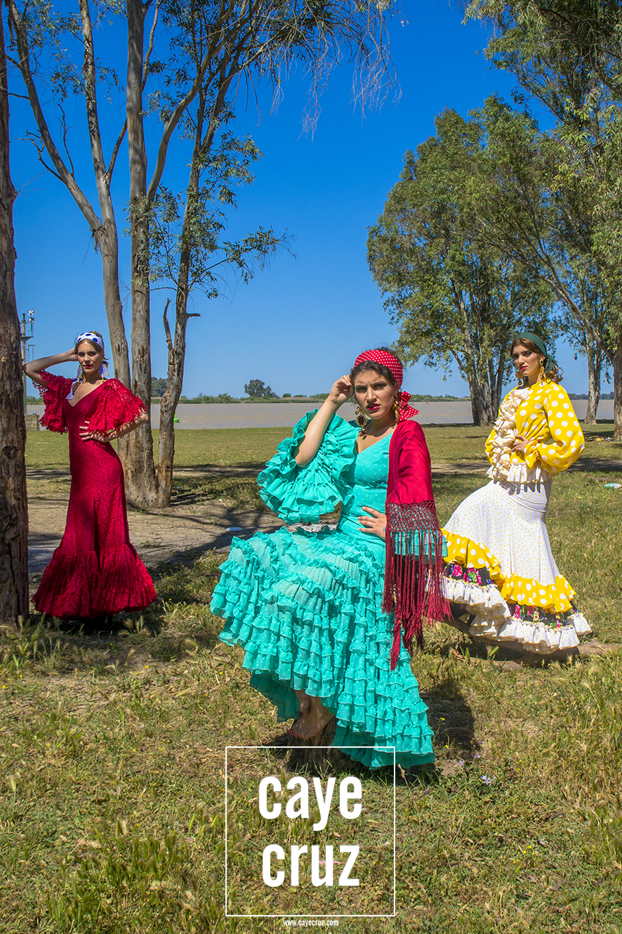 Casual Folk: color de primavera, flamenca de camino