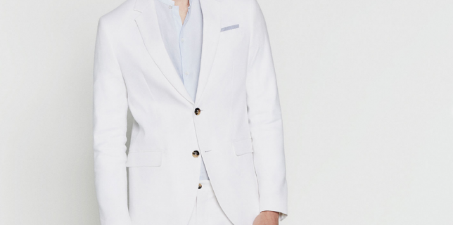 americana chaqueta blanca