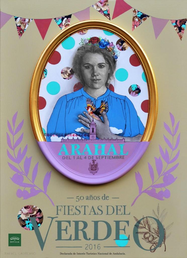 Cartel de Rafael Laureano para las Fiestas del Verdeo de Arahal.