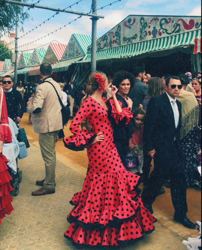 Flamencas en Feria 28 de mayo Feria Sevilla Paloma Gutiérrez