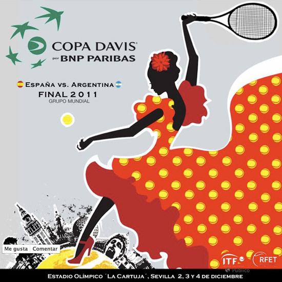 La Originalidad del Cartel de la Copa Davis en Sevilla.