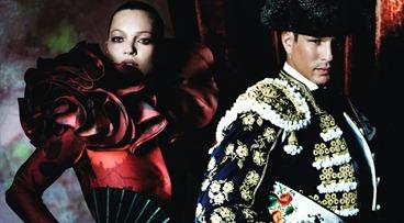 Kate Moss, Jose Mari Manzanares y Mario Testino para Vogue España