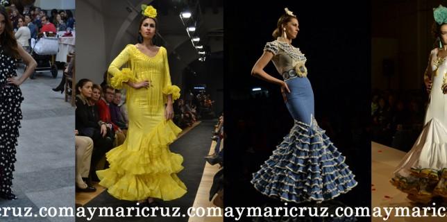 Modelos de Amparo Maciá, Rocío Martín, Faly de la Feria al Rocío y Mario Gallardo