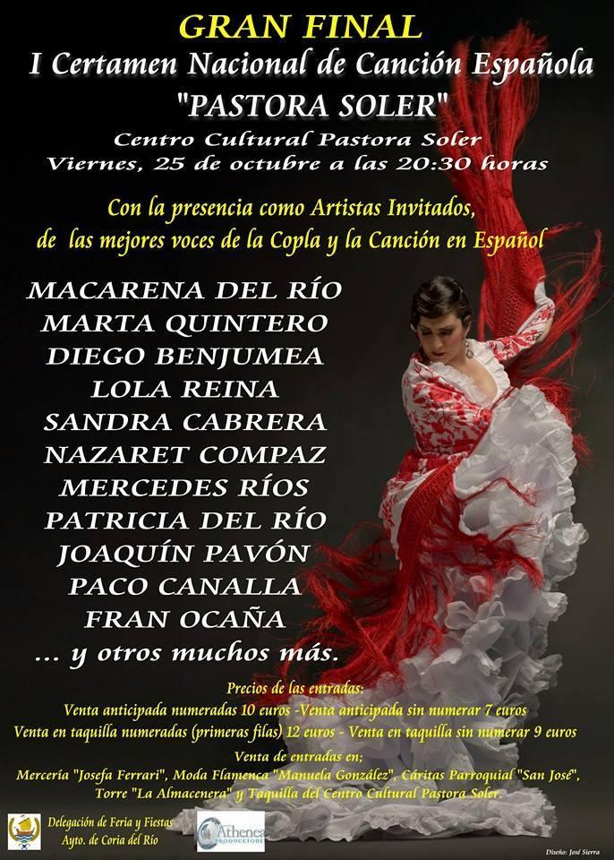 Final del I Certamen Nacional de Cancion Española Pastora Soler (Coria del Río)