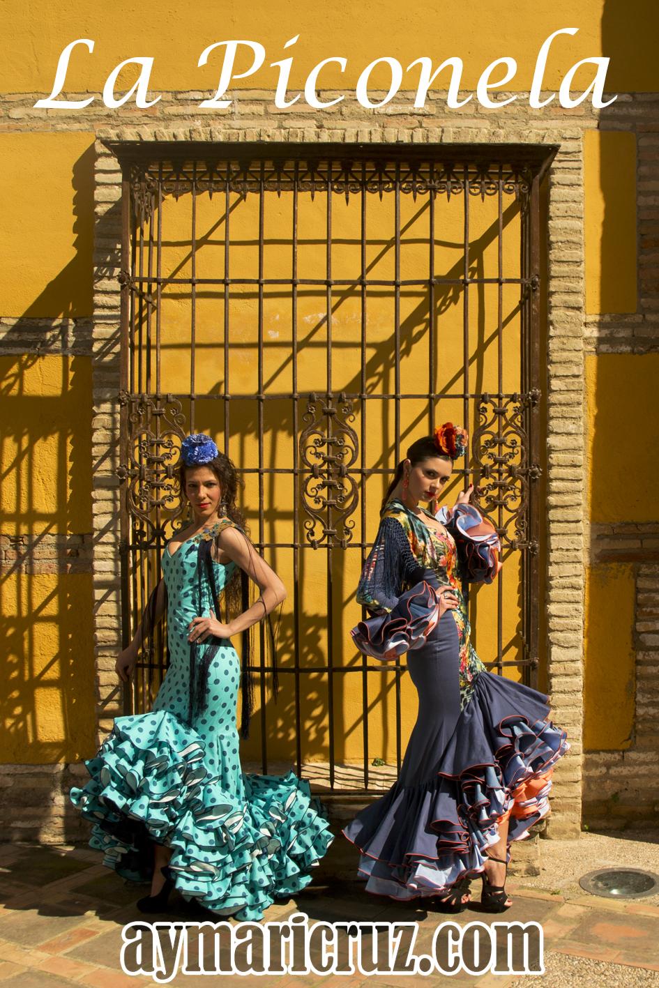 La Piconela, vistiendo a la flamenca de Andújar