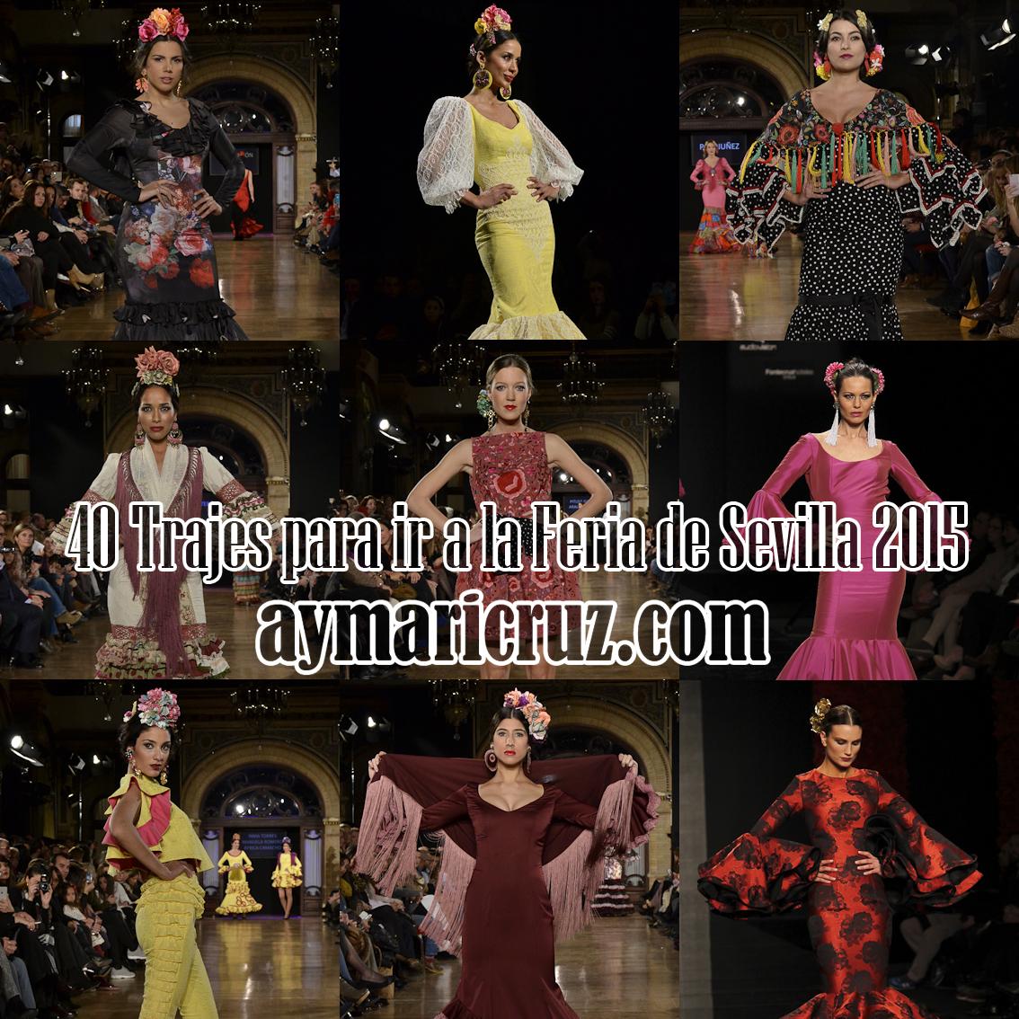 40 Trajes para ir a la Feria de Sevilla 2015 (2ª parte)