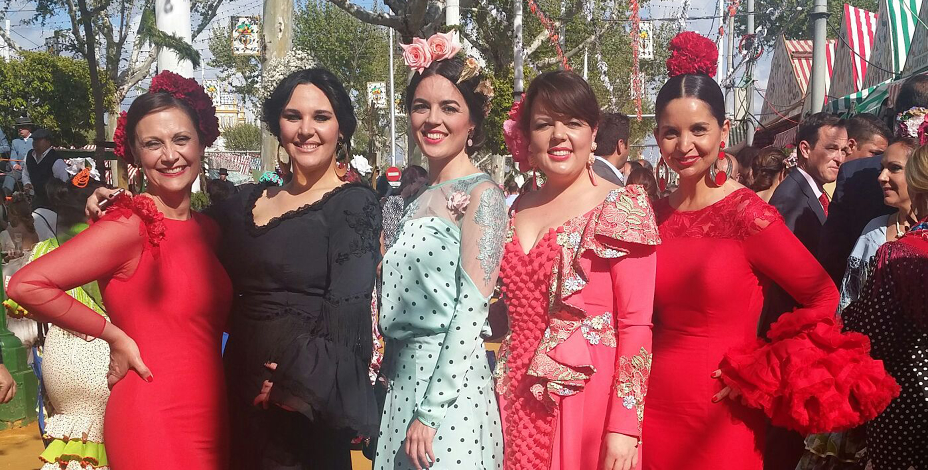 Flamencas en la Feria de Sevilla 2016