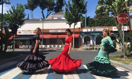Flamencas en las Fiestas de Primavera 2018